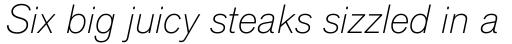 Applied Sans Pro Ultra Light Italic sample