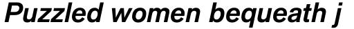 Applied Sans Pro Bold Italic sample
