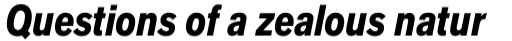 Applied Sans Pro Condensed Black Italic sample