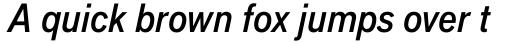Applied Sans Pro Condensed Medium Italic sample