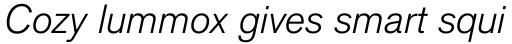 Applied Sans Pro Light Italic sample