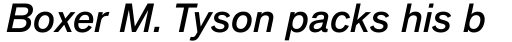 Applied Sans Pro Medium Italic sample