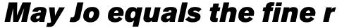Applied Sans Pro Ultra Black Italic sample