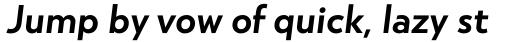 Atlan Semi Bold Italic sample