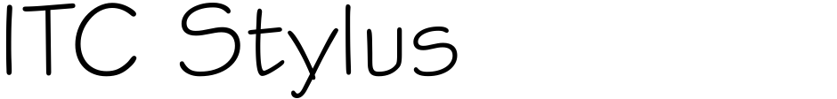 Click to view  ITC Stylus font, character set and sample text