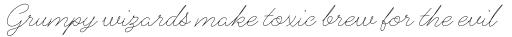Alfons Script Extra Light sample