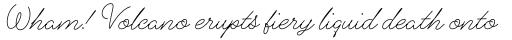 Alfons Script Light sample