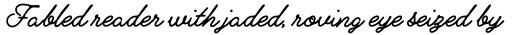 Alfons Script Printed 1 sample