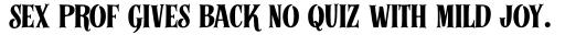 Alfons Serif Bold 2 sample