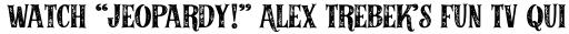 Alfons Serif Bold 2 Printed sample