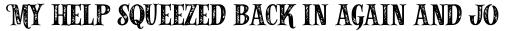 Alfons Serif Bold Printed sample