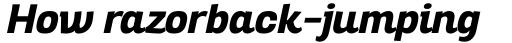 Altair ExtraBold Italic sample
