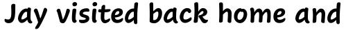 Cavolini Condensed Bold sample