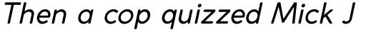 Coco Gothic Italic sample