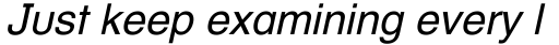 Helvetica Textbook Oblique sample