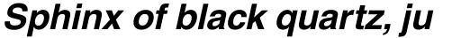 Helvetica Bold Oblique sample