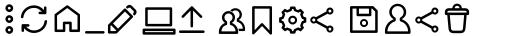 Antipasto Pro Antipasto Icons Regular sample