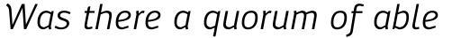 Engel New Sans Italic sample