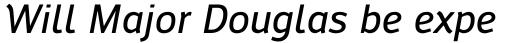 Engel New Sans Medium Italic sample