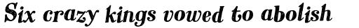 Hombre Pro Bold Italic sample