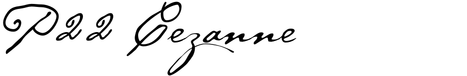 Click to view  P22 Cezanne font, character set and sample text