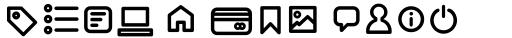 Arista Pro Icons Regular sample