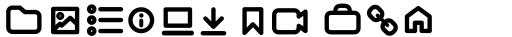 Arista Pro Icons SemiBold sample