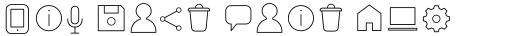 Arista Pro Icons Thin sample