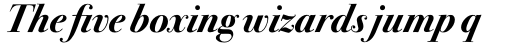 ITC Bodoni Seventytwo Std Bold Italic sample