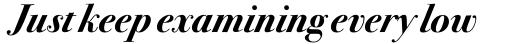 ITC Bodoni Seventytwo Pro Bold Italic sample