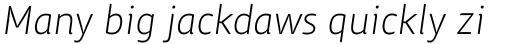 ITC Chino Std Light Italic sample