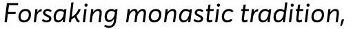 Averta PE Italic sample