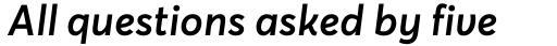 Averta PE SemiBold Italic sample
