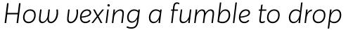 Averta Cyr Light Italic sample