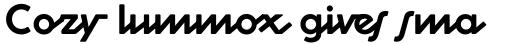 Cocosignum Corsivo Italico Bold sample