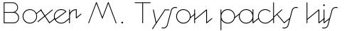 Cocosignum Corsivo Italico UltraLight sample