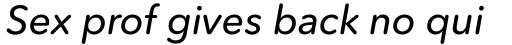Avenir Next Rounded Pro Medium Italic sample