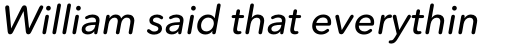 Avenir Next Rounded Std Medium Italic sample