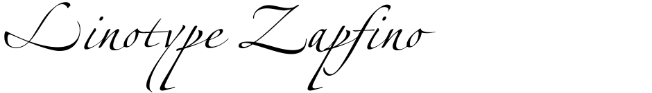 Click to view  Linotype Zapfino font, character set and sample text