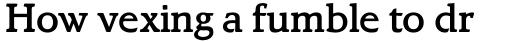 Letraset Bramley Medium sample