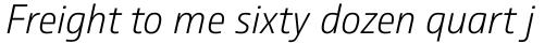 Comspot Extra Light Italic sample