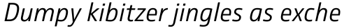 Comspot Light Italic sample