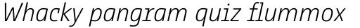 Comspot Tec Extra Light Italic sample