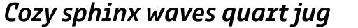 Comspot Tec Medium Italic sample