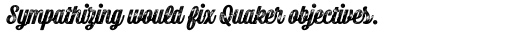 Bolton Print Script Black sample