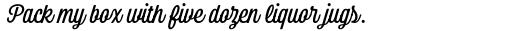Bolton Script Regular sample
