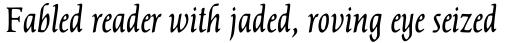 Dair 67 Italic sample