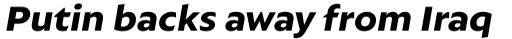 Autor Extra Bold Italic sample