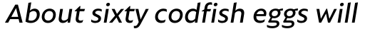 Autor Medium Italic sample