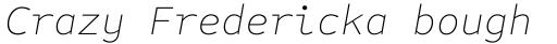 FF Attribute Mono Thin Italic sample